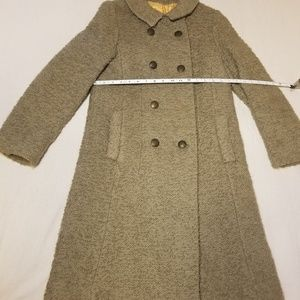 Vintage 1950s 3/4 length wool coat